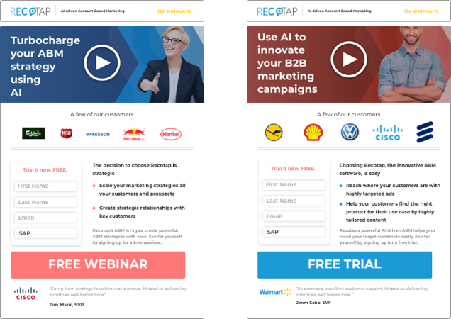 Personalised Websites and Landing Pages